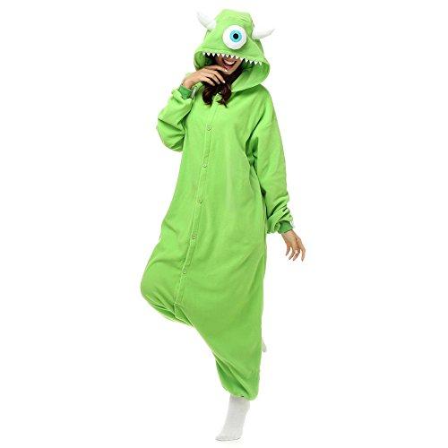 Adult Unisex Mike Wazowski Onesie Cosplay Costume Anime Cartoon Kigurumi Pajamas (Mike Wazowski Costume For Adults)