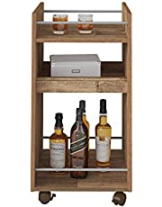 Artely MDF/MDP Brito Bar, Rustic Brown, H74.5 x W40 x D40 cm