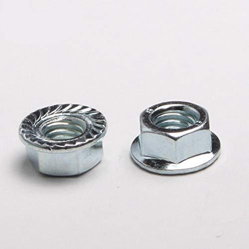 BoKa-Store - 40PCS Specials Hex Flange Nut Flange Nuts M4 DIN6923