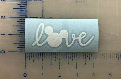 Love Disney Decal 2.5 3.5 4.5 5.5 Mouse Ears Laptop Window Bumper Mug Car Active