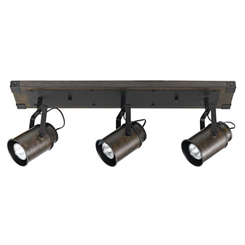 (Globe Electric 59316 Williamsburg 3-Light Track Lighting, Dark)