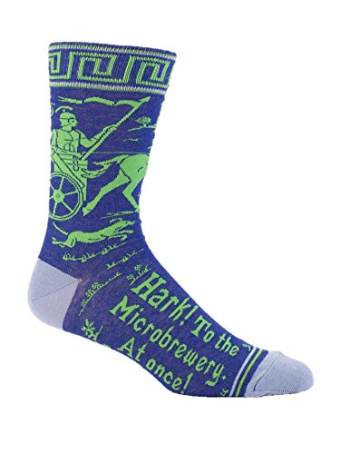- Blue Q Socks, Men's Crew, Hark To The Microbrewery At Once