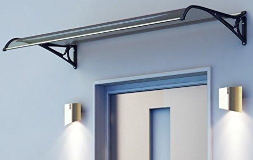 Wohnstyle24 Vordach 1 60x1 20m Transparent Haust/ürdach T/ürdach Vord/ächer /Überdachung Pultvordach