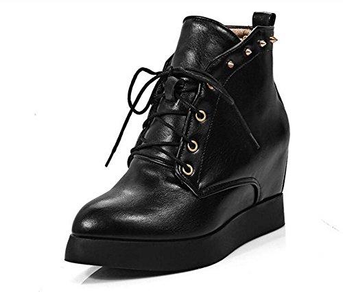 Stiefel und Nackten erhöht Niet Stiefel Stiefel XIE Blitze Kurze Casual Spitze Schuhe Martin 8q0Ev
