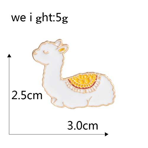 Xeminor Premium Cartoon Llama Enamel Cute Alpaca Styling Badge Brooches Pin for Women Men by Xeminor (Image #2)