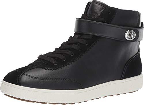Coach Women's C213 - High Top Sneaker Sheep Nappa Suede Black/Black 9.5 B US (Top High Sneakers Coach)