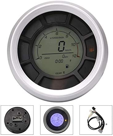 ZHOUQINMEI Speedometer Gauge Motorcycle Digital Odometer Speedometer