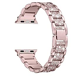 Secbolt Bling Bands Compatible with Apple Watch Band 38mm 40mm iWatch Series 5/4/3/2/1, Dressy Jewel
