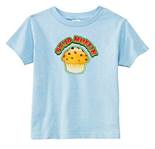 U.S. Custom Kids Stud Muffin Toddler T-Shirt, 3T T-Shirt, Light Blue