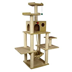 Armarkat A7202 72-Inch Cat Tree, Beige by Armarkat