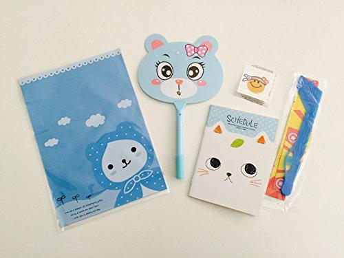 8x Pack Goody Bags Pre Made & Filled with Toys, Boys & Girls Goodie Bag, Filled Goody Bag / Loot Bag, notebook; yo yo; dinasour; tattoo; Eraser; Sharpener
