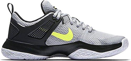 7c25bab81db ... Nike Dameslucht Zoom Hyperace Volleybalschoenen Wolf Grijs / Volt -  Zwart ...