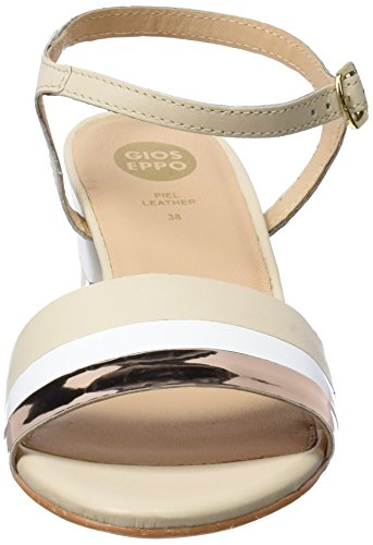Gioseppo White 44131 Aperta Tacco Bianco Punta Donna col Scarpe rrnqWF4