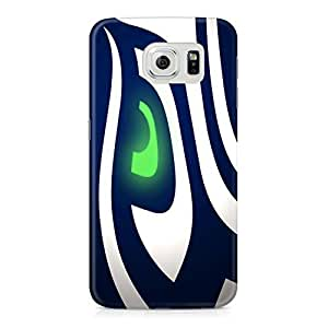 Seattle Seahawks Eye NFL Fit Full Wrap Rough Case Skin, Fashion Design Image Custom , Durable Hard 3d Case Cover for Samsung Galaxy S6 Regular, Case New Design By Art-print