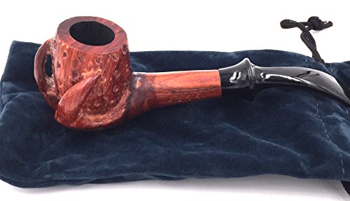 F.e.s.s. Hand Carved Dragon Smooth Tobacco Smoking Pipe