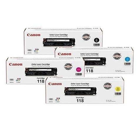 Amazon.com: Canon 118 Toner Cartridge Bundle para Imageclass ...