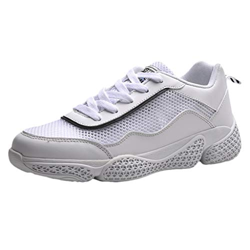 - iHPH7 Trail Running Hiking Shoes,Running Barefoot Shoes,Sports Running Shoes,Mid Mesh Running Shoe,Volleyball Shoes,Bowling Shoes,Platform Sneakers (44,White)