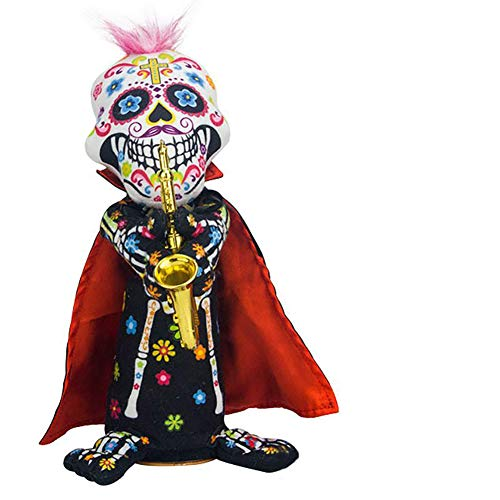 wuudi Halloween Electric Skull Plush Doll Zombie Doll Ghost Halloween Party Toy
