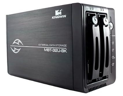Amazon.com: Kingwin Black Dual Bay Mobile Rack Enclosure For ...