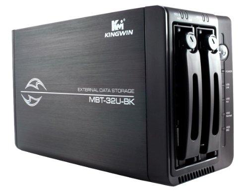 Kingwin Black Dual Bay Mobile Rack Enclosure For SATA HDD (MBT-32U-BK)