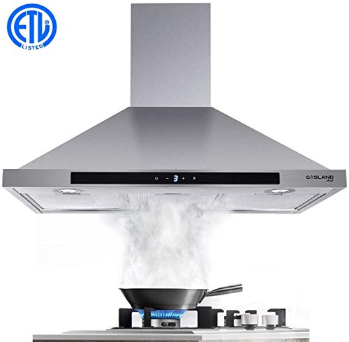 30 Range Hood Gasland Chef Pr30ss 30 Inch Stainless Steel Wall Mount Kitchen Hood 3 Speed 450 Cfm Sensor Touch Control Exhaust Hood Fan Convertible Chimney Style Led Lights Aluminum Mesh Filters On Galleon Philippines