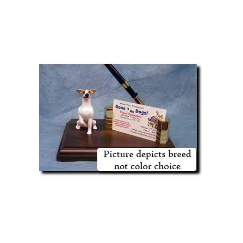 Michael Park Whippet (Brindle and White) Desk Set