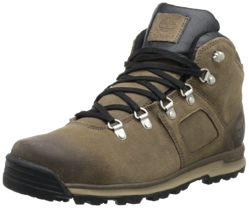 Timberland GT Scramble FTP_EK Mid Leather WP, Stivali uomo Marrone (Braun (Greige/Chili Red))