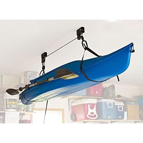 Rage Powersports Ceiling Mount Canoe & Kayak Storage Hoist