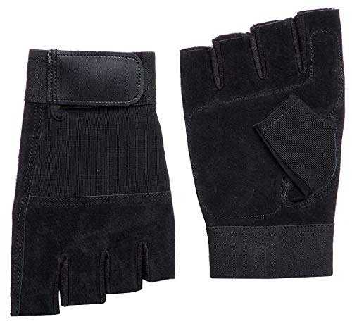 Anti-Vibration Gloves, Pigskin Leather Palm Material, Black, XL, PR 1-1AGJ3, (Pack of 2) by Top Brand (Image #1)