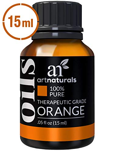 ArtNaturals 100% Pure Sweet Orange Essential Oil - (.5 Fl Oz / 15ml) - Undiluted Therapeutic Grade - Cleanse Uplift and ()