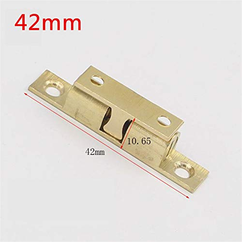 50pcs 42mm Wholesale Pure Copper Cabinet Door Catches Touch Beads Bronze Brass Color Double Ball Latch Clip Lock by Kasuki (Image #2)