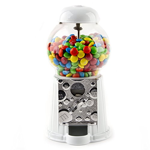M&M Candy Dispenser Machine + Free Pound of M&M's, Great Gift for All Ages -
