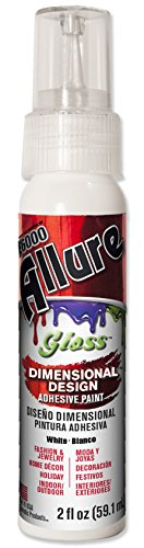 E6000 57070201 701C Allure Gloss Dimensional Adhesive Paint, White, 2 fl. oz. -
