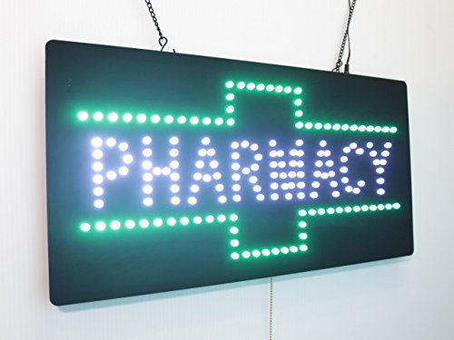 Pharmacy Sign, Super Bright LED Open Sign, Store Sign, Business Sign, Windows Sign, LED Neon Sign
