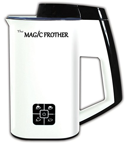 The Magic Frother - Premier Deluxe Automatic Electric Milk Frother and Heater Carafe for Coffee, Cappuccino, Latte, Hot Chocolate, Hot and Cold Froth or Heat only, Soft Touch Buttons (Best Patio Heaters Reviews)