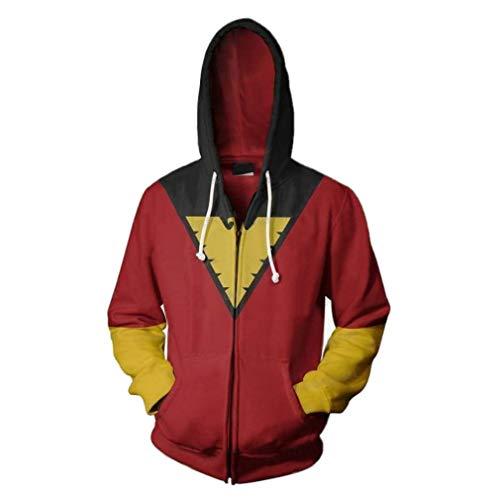 Marvel X-Men Custome Hoodie X-Men Dark Phoenix Hoodie 3D Print Sweatshirt X-Men Cosplay Custome XXX-Large Red