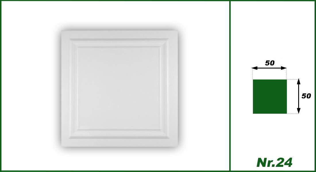 XPS 10 qm 50x50cm Deckenplatten Nr.24 formfest Hexim