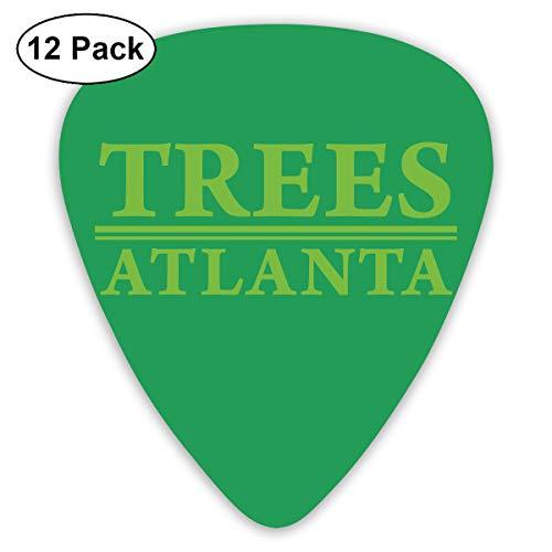 Qbeir 12-Pack Guitar Picks Plectrums 0.46mm / 0.71mm / 0.96mm Trees Atlanta Celluloid for Bass Ukulele