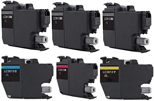 3-BK//1-C//M//Y SuppliesMAX Compatible Replacement for Brother DCP-J572//J772//J774//MFC-J491//J497//J690//J890//J895DW High Yield Inkjet Combo Pack LC-3013XL-3BK1CMY