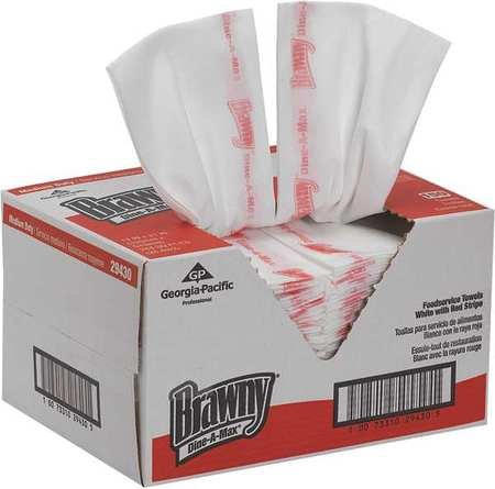 Brawny 29430 Dine-A-Max Disposable Towels, 13'' x 21'', 150 Sheet Pack by Brawny