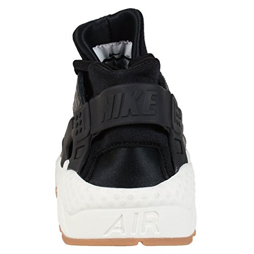 Nike Women's WMNS Air Huarache Run PRM Fitness Shoes, Black, 4 UK Black Sail Gum Medium Brown 011