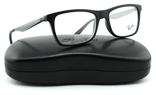 Ray-Ban RX7062 Metal Rectangle Unisex Eyeglasses (Black Green Frame 5197, (Discount Ray Ban Eyeglasses)