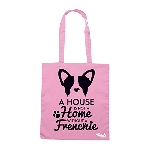 Borsa FRENCH BULLDOG LOVERS CASA - Rosa - MUSH by Mush Dress Your Style