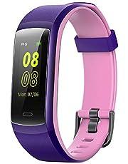 YAMAY Fitness Armband,Wasserdicht IP68 Fitness Trackers Farbbildschirm Aktivitätstracker Fitness Uhr Smartwatch,Pulsuhren,Schrittzähler für Damen Herren Anruf SMS Beachten für iPhone Android Handy