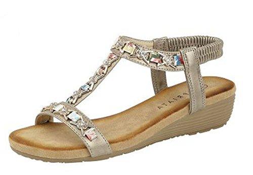 de19e13ea Cipriata Ladies Lia  Sling Back Wedge Heel Sandal - Buy Online in Oman.