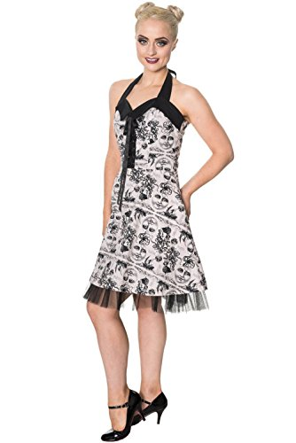 Missing Action Banned Dress 5301 Grey Kleid Halterneck in Grey ptw5APzqw