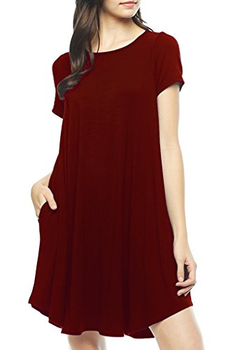 poseshe-womens-short-sleeve-casual-loose-t-shirt-dress-wine-red-xl