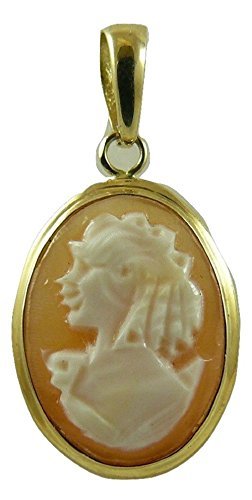 Cameo 14mm x 10mm Pendant 14k Yellow Gold