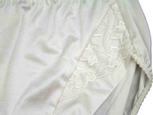 Silueta de la lencería 'Cascada' Full Breve satén Knickers con encaje (3103) perla