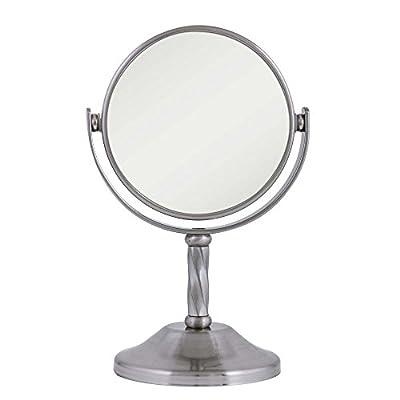 Zadro 3X/1X My Little Cutie Vanity Mirror, Satin Nickel
